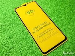 """Защитное стекло """"SC"""" 5D Full Glue для Xiaomi Redmi Note 8 Pro (цвет=черный)"""