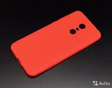 Накладка силиконовая Carbon для Xiaomi redmi 5 plus красный