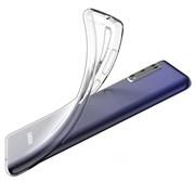 """Накладка ультратонкая """"Lux"""" 1 мм для Samsung Galaxy A41 (цвет=прозрачный)"""