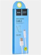 """Кабель """"Hoco"""" X1 Rapid Charging  1 м для Micro USB (цвет=белый)"""