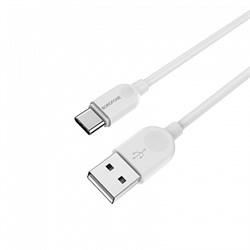 Дата-кабель USB 2.0A BOROFONE BX14 1м для Type-C (цвет=белый) - фото 4662