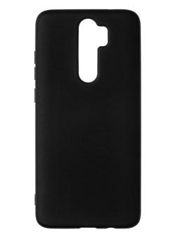 Накладка силиконовая матовая для Xiaomi Redmi Note 8 Pro (цвет=черный) - фото 4809