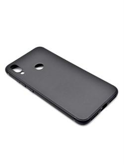 Накладка силиконовая матовая для Xiaomi Redmi 7 (цвет=черный) - фото 4825