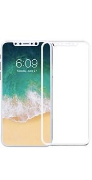 Стекло защитное IPhone X белый - фото 4851