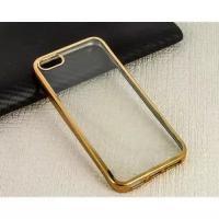 Накладка силиконовая с кантом для Apple Iphone 6S/4,7 (цвет=золото) - фото 4857