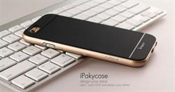 """Накладка силиконовая """"Hoco""""  Obsidian series для Apple Iphone 7+/5,5 (цвет=черный с золотом) - фото 4858"""