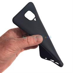 Накладка силиконовая матовая для Xiaomi Redmi Note 9 (цвет=черный) - фото 4958