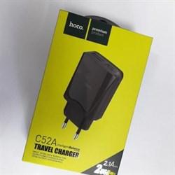 """Зарядное устройство """"Hoco"""" C52A 2 USB [3400 mA] (цвет=черный) - фото 5010"""