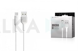 Дата-кабель USB 2.4A BOROFONE BX1 1м для Micro USB (цвет=белый) - фото 5011