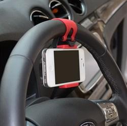 Держатель телефона на руль (цвет=черный) - фото 5301