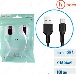 "Кабель ""Hoco"" X13 Easy charged 1 м для Micro USB (цвет=черный) - фото 5305"