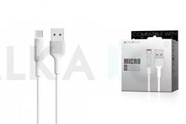 Дата-кабель USB 2.4A BOROFONE BX1 1м для Micro USB (цвет=белый)