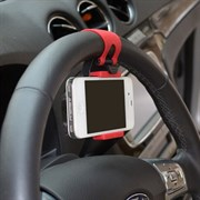 Держатель телефона на руль (цвет=черный)