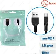 "Кабель ""Hoco"" X13 Easy charged 1 м для Micro USB (цвет=черный)"